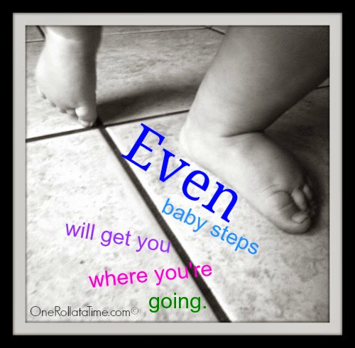 Even Baby Steps by Tori Gollihugh at www.OneRollataTime.com