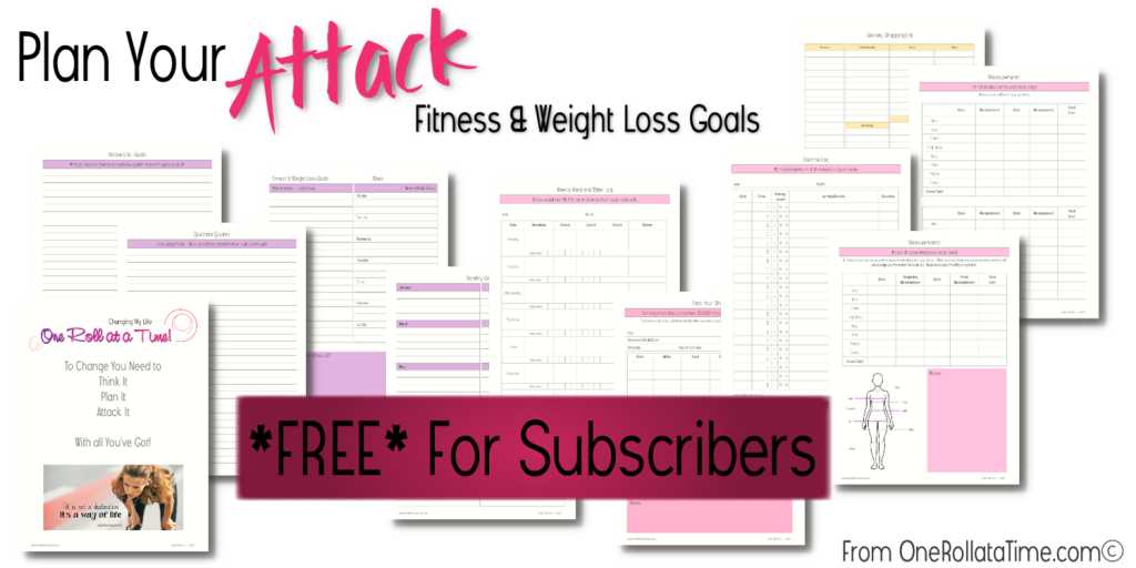 Fitness & Weight Loss Planner - Free For Subscribers