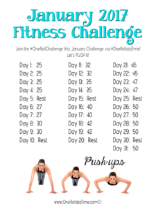 Join the January 2017 Fitness Challenge: Push-ups #OneRollChallenge