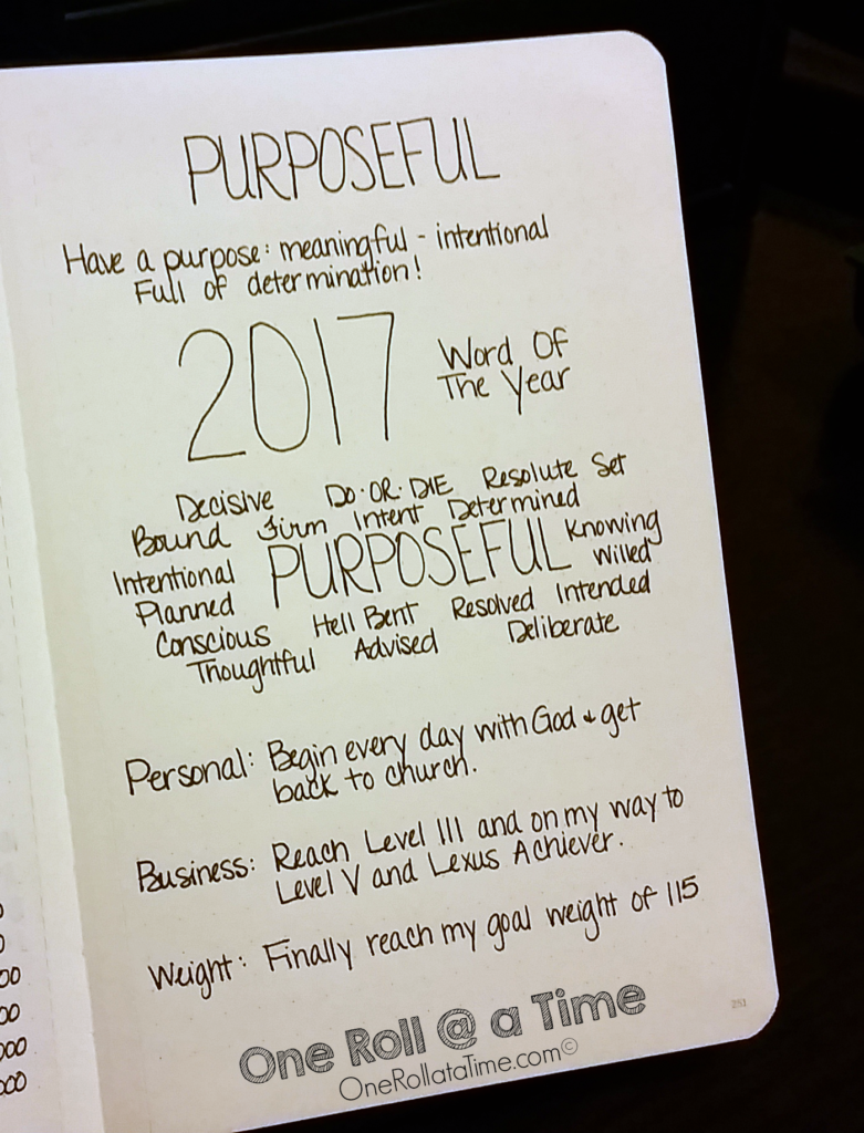 New Year - New YOU! Word of the Year 2017 - Purposeful